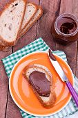 chocolate cream and bread