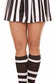 foto of knee-cap  - A woman referee - JPG