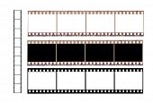 stock photo of mm  - Isolated 36 mm filmstrip  on a white background - JPG