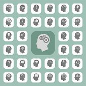 foto of pig head  - Thinking heads icons  - JPG
