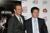 LOS ANGELES - NOV 12:  Peter Berg, Mark Wahlberg at the