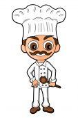 foto of chibi  - Chef drawn in SD super deformed or chibi manga style - JPG