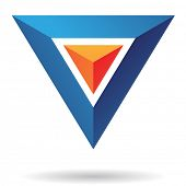 picture of pyramid shape  - Triangle Pyramid Abstract Icon - JPG