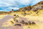 picture of urn funeral  - Funerary towers and ruins in Sillustani PeruSouth America - JPG