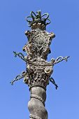 stock photo of xx  - Solomonic granite column in pastiche pseudo - JPG