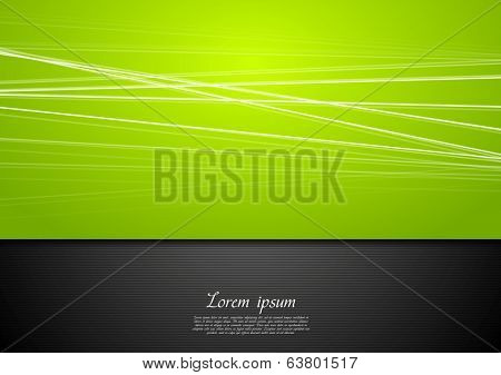 Abstract green background with smooth lines