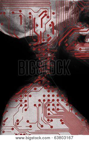 Humanoid, future medicine concept.