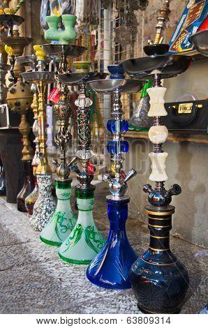 Hookahs At The Jaffa Flea Market