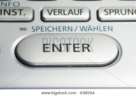 ENTER Key On A Keypad