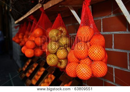 Oranges And Lemons  In The Jaffa Market