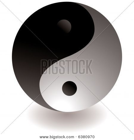 Ying Yang Black And White