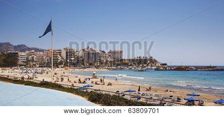 Playa De Poniente, Benidorm, Alicante, Spain - April 2014.