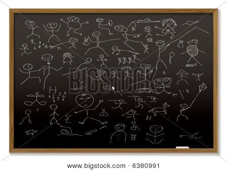 Stick Man Blackboard