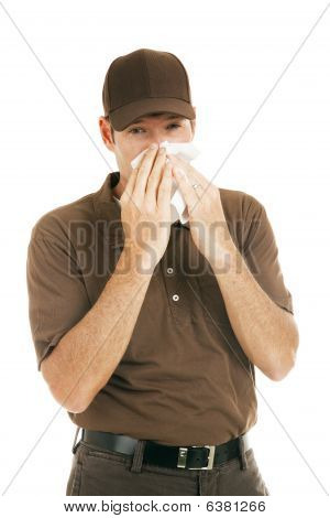 Worker With Flu