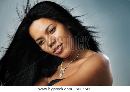 African Hispanic Model