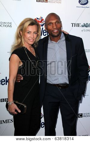 BODHILOS ANGELES - APR 22:  Simone Young Smith, Mark Smith at the 8th Annual BritWeek Launch Party at The British Residence on April 22, 2014 in Los Angeles, CA