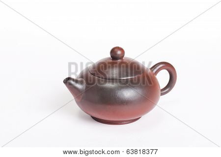 Traditional Chinese Brown Rounded Teapot