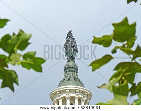 Statue of Freedom on the Capitol Building