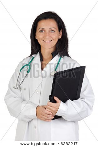 Happy Doctor Woman