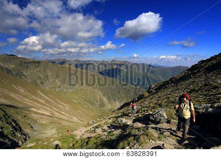 Trekking in the Transylvanian Alps, Romania, Europe
