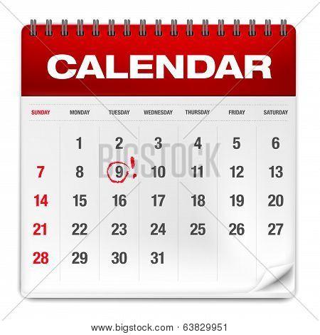 Abstract Paper Calendar