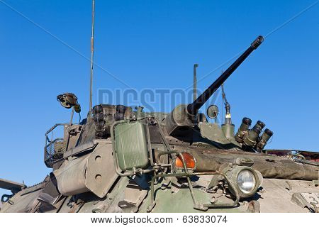 Operational Military Armored Tank Turret Gun