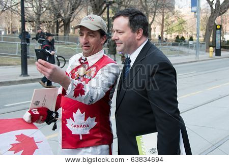 Jason Kenney at Jim Flaherty State Funeral in Toronto