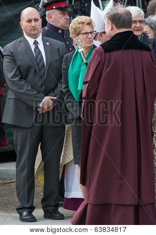 Kathleen Wynne at Jim Flaherty State Funeral In Toronto, Canada