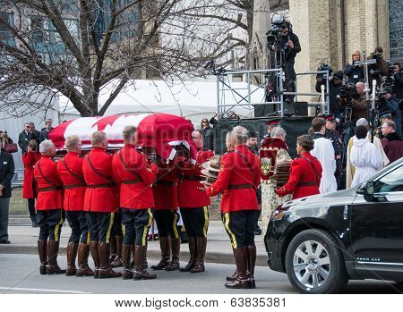 Jim Flaherty State Funeral In Toronto, Canada
