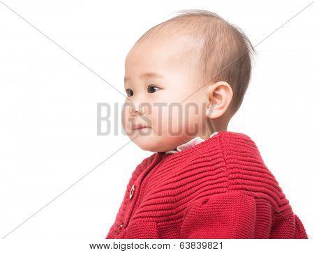 Side profile of baby girl