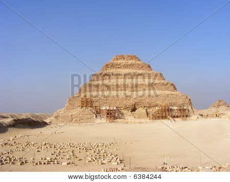 Stepped pyramid in Egypt