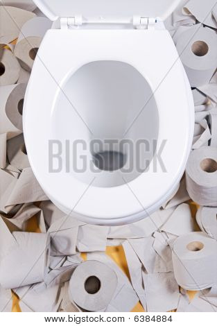 open toilet bowl