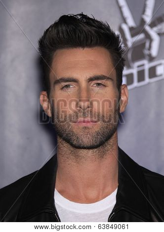 LOS ANGELES - OCT 28:  ADAM LEVINE arrives to the
