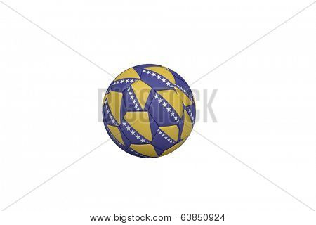 Football in bosnian colours on white background