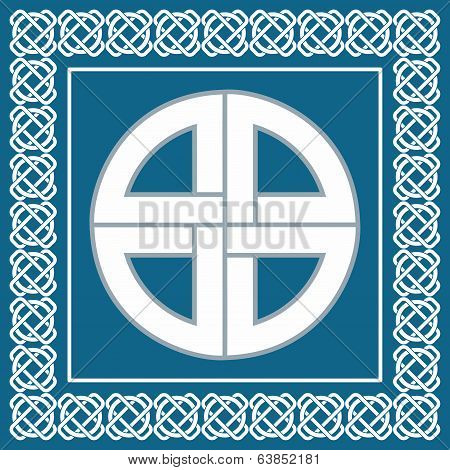 Ancient Celtic Knot,symbol Of Protection Used By Vikings,scandinavian Warriors, Vector Illustration
