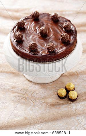 homemade double chocolate cheesecake - sweet food