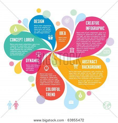 Infographic Concept - Abstract Background - Creative Vector Illustration