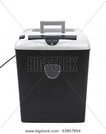Close up of paper shredder.