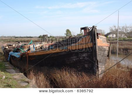 Hulked Sailing Barge