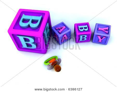 Baby Blocks And Pacifier