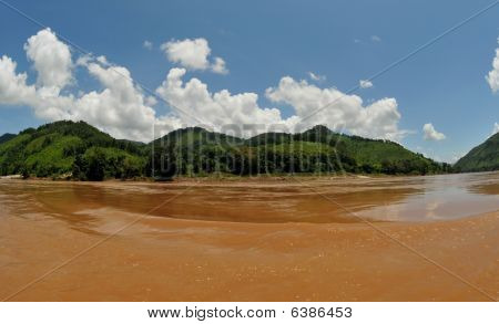 at the mekong river in laos