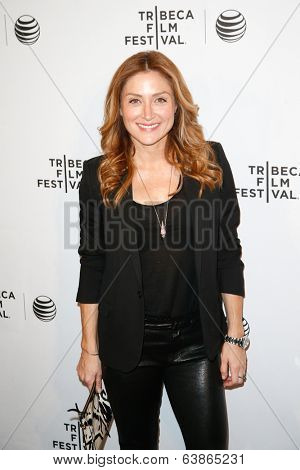 NEW YORK-APR 21: Actress Sasha Alexander attends the Shorts Program: Soul Survivors during the 2014 Tribeca Film Festival at AMC Loews Village 7 on April 21, 2014 in New York City.