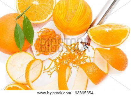 Citrus Zester And Orange Fruits