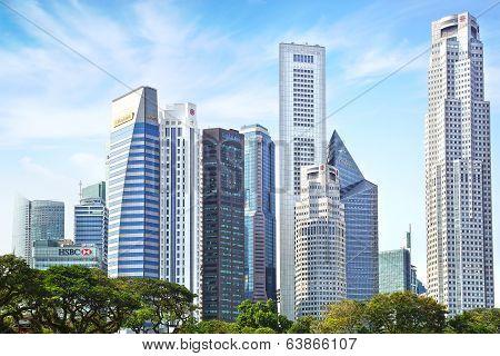 Downtown Singapore.