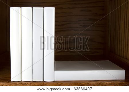 Blank Books on Shelf