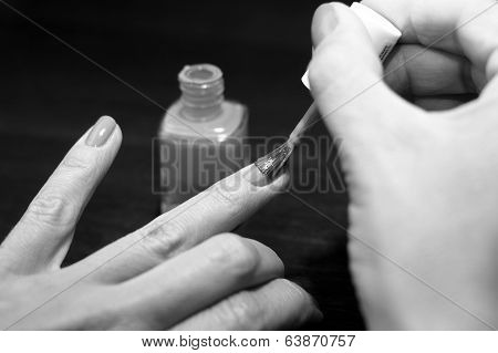 Finger Nails Painting