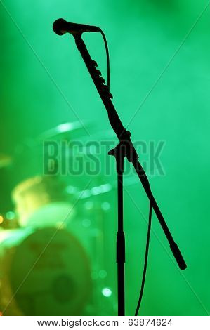 Microphone On The Stage