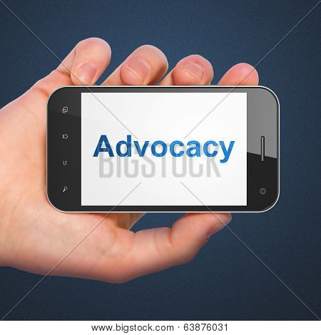 Law concept: Advocacy on smartphone