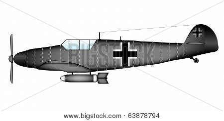 German Ww2 Fighter Messerschmitt Bf.109G