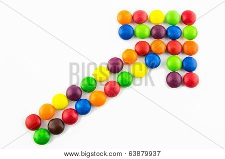 Growing Trend Made Of Multicolored Candies